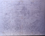 P+O Nedlloyd Kobe (working drawing) (pencil) 71x100cm